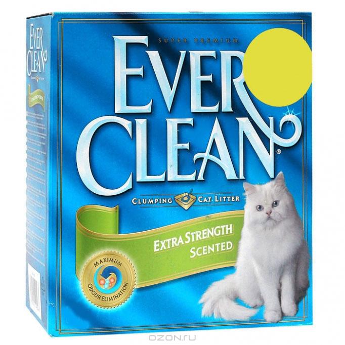 Наполнитель для кошачьего туалета Ever Clean  Extra Strength Scented , комкующийся, с ароматизатором, 10 кг - Наполнители и туалетные принадлежности - Наполнители