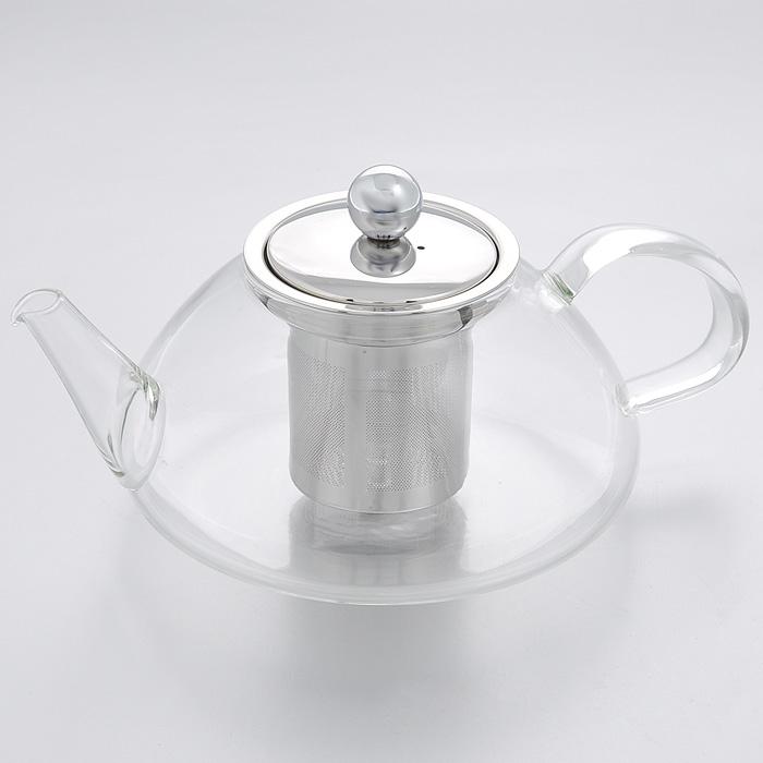 Чайник заварочный Mayer & Boch, 0,6 л. 2077020770Заварочный чайник Mayer & Boch изготовлен из термостойкого боросиликатного стекла - прочного износостойкого материала. Чайник оснащен металлическим фильтром и крышкой.Простой и удобный чайник поможет вам приготовить крепкий, ароматный чай. Дизайн изделия создает гипнотическую атмосферу через сочетание полупрозрачного цвета и хромированных элементов. Можно мыть в посудомоечной машине. Не использовать в микроволновой печи. Характеристики: Материал: пластик, стекло, металл. Объем: 0,6 л. Диаметр по верхнему краю: 7 см. Высота (без учета крышки): 8 см. Высота фильтра: 6,5 см. Размер упаковки: 16,5 см х 15,5 см х 11 см. Артикул: 20770.