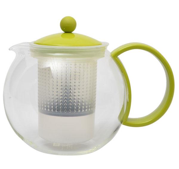 Френч-пресс Bodum Assam, цвет: салатовый, 1 л. 1844-1844-Френч-пресс Bodum Assam, выполненный из стекла, пластика и нержавеющей стали, практичный и простой в использовании. Он займет достойное место на вашей кухне и позволит вам заварить свежий, ароматный чай. Засыпая чайную заварку в фильтр-сетку и заливая ее горячей водой, вы получаете ароматный чай с оптимальной крепостью и насыщенностью. Остановить процесс заварки чая легко. Для этого нужно просто опустить поршень, и заварка уйдет вниз, оставляя вверху напиток, готовый к употреблению. Современный дизайн полностью соответствует последним модным тенденциям в создании предметов бытовой техники.Диаметр френч-пресса по верхнему краю (без учета носика и ручки): 9,5 см.Максимальный диаметр френч-пресса: 15 см.Высота френч-пресса (с учетом крышки): 15 см.