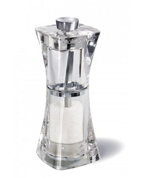 Мельница для соли Crystal, 11 см. H374020H374020Мельница для соли Crystal легка в использовании, стоит только покрутить верхнюю часть мельницы, и Вы с легкостью сможете добавить соль по своему вкусу в любое блюдо. Оригинальная мельница модного дизайна будет отлично смотреться на Вашей кухне. Характеристики: Материал: пластик. Высота: 11 см. Производитель: Китай. Артикул: H374020.