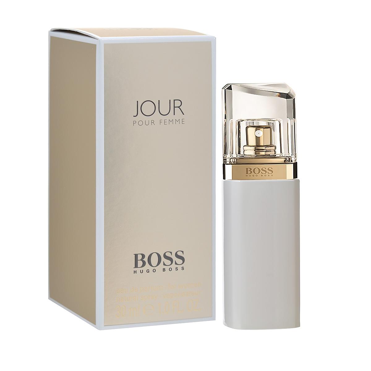 Hugo Boss Парфюмерная вода Jour Pour Femme, женская, 30 мл0737052684390Hugo Boss Boss Jour Pour Femme принадлежит семействам цветочных ароматов и характеризуется разносторонним умеренным звучанием. Букет парфюмерной композиции строится вокруг насыщенных аккордов белых цветов, которые дополняются выразительными акцентами других различных цветочных нот, умеренными цитрусовыми ароматами, а также легкими кожаными аккордами и тонкими янтарными акцентами. Верхняя нота: Агатосма, Цветок грейпфрута, Лаймовый аккорд. Средняя нота: Жимолость, Ландыш, Фрезия. Шлейф: Сливочный янтарь, Белая береза, Фиалковый корень. Фрезия - главная героиня аромата. Создаёт головокружительный вихрь свежести нового утра. Дневной и вечерний аромат.Краткий гид по парфюмерии: виды, ноты, ароматы, советы по выбору. Статья OZON Гид
