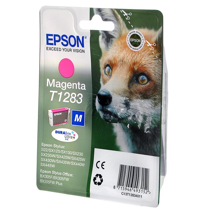 все цены на Epson T1283 (C13T12834012), Magenta картридж для S22/SX125/SX425/BX305 онлайн