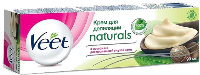 """Veet Крем для депиляции """"Naturals"""", с маслом ши, для нормальной и сухой кожи, 90 мл"""