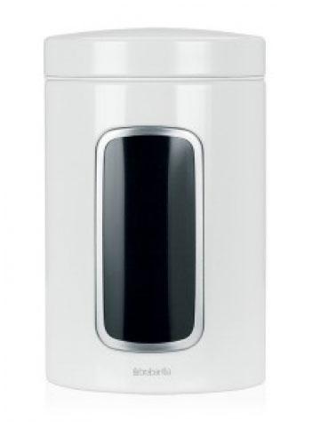 Контейнер для сыпучих продуктов Brabantia, цвет: белый, 1,4 л. 491009491009Практичное решение для хранения сыпучих продуктов, позволяющее дольше сохранять их свежесть. Не пропускает запах и сохраняет свежесть – защелкивающаяся крышка. Всегда видно содержимое – окошко из антистатических материалов. Легко чистится – контейнер имеет гладкую внутреннюю поверхность. Изготовлен из коррозионностойкой крашеной или лакированной стали с защитным цинк-алюминиевым покрытием. Основание с защитным покрытием. Покрытие с защитой от отпечатков пальцев (FPP).