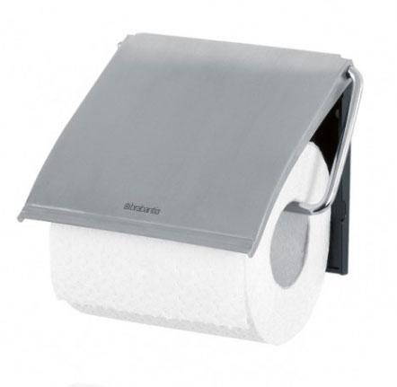 Держатель для туалетной бумаги Brabantia Classic, цвет: стальной матовый. 385322385322Устойчивость к коррозии – идеальное решение для ванной или туалетной комнаты. Держатель для рулона может крепиться как с правой, так и с левой стороны. Изготовлен из высококачественной нержавеющей стали с коррозионностойким покрытием или из хромированной стали. Крепежная пластина из пластика. Превосходно сочетается с туалетным ершиком, мусорными баками и другими изделиями Brabantia.