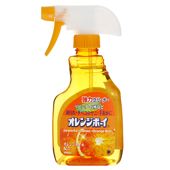 Моющее средство для дома Daiichi Апельсин, с пульверизатором, 400 мл415529Моющее средство для дома Daiichi отлично очищает различные загрязнения, масляные пятна, следы грязных рук и удаляет бактерии. Содержит апельсиновое масло. Применяется как на кухне, так и в комнате, подходит для чистки кондиционеров, вентиляторов, электроплит, духовок, стен возле электроплит, кафеля, полов. Перед применением внимательно прочтите способ использования и меры предосторожности. Для удобного распыления предусмотрена насадка-пульверизатор. Характеристики: Состав: ПАВ (3%, алкилэфирносернокислый полиэфирный натрий), щелочные средства, растворитель. Объем: 400 мл. Артикул: 415529. Товар сертифицирован.Как выбрать качественную бытовую химию, безопасную для природы и людей. Статья OZON Гид