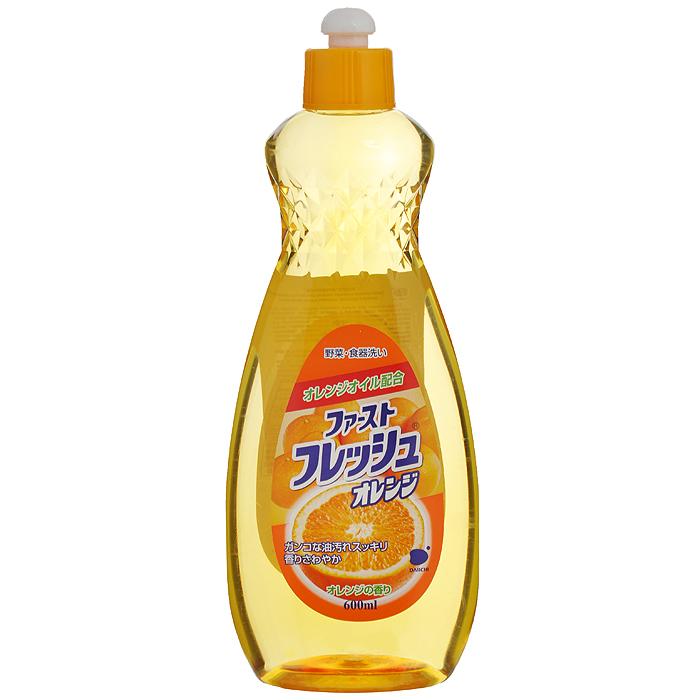 Гель для мытья посуды Daiichi Апельсин, 600 мл107325Гель для мытья посуды Daiichi с маслом апельсина предназначен для мытья столовой посуды, посуды для приготовления пищи, овощей и фруктов. Средство полностью удаляет трудновыводимые пятна жира и имеет приятный аромат апельсина. Экологически чистый продукт. Содержит растительный экстракт, безопасный для кожи рук. Не сушит и не раздражает кожу рук. Не оставляет запаха на овощах и фруктах. Прекрасно смывается водой с любой поверхности полностью и без остатка. Подходит для мытья детской посуды и аксессуаров для кормления новорожденных. Характеристики: Состав: ПАВ (18% алкилбен-зинсульфат натрия, полиоксиэтиленалкинэтил). Объем: 600 мл. Артикул: 107325. Товар сертифицирован.Как выбрать качественную бытовую химию, безопасную для природы и людей. Статья OZON Гид