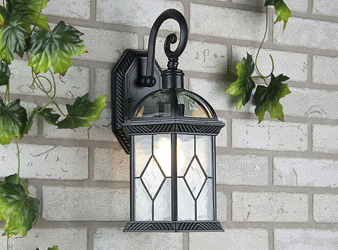 Уличный светильник Elektrostandard Fenix настенный черныйa024673