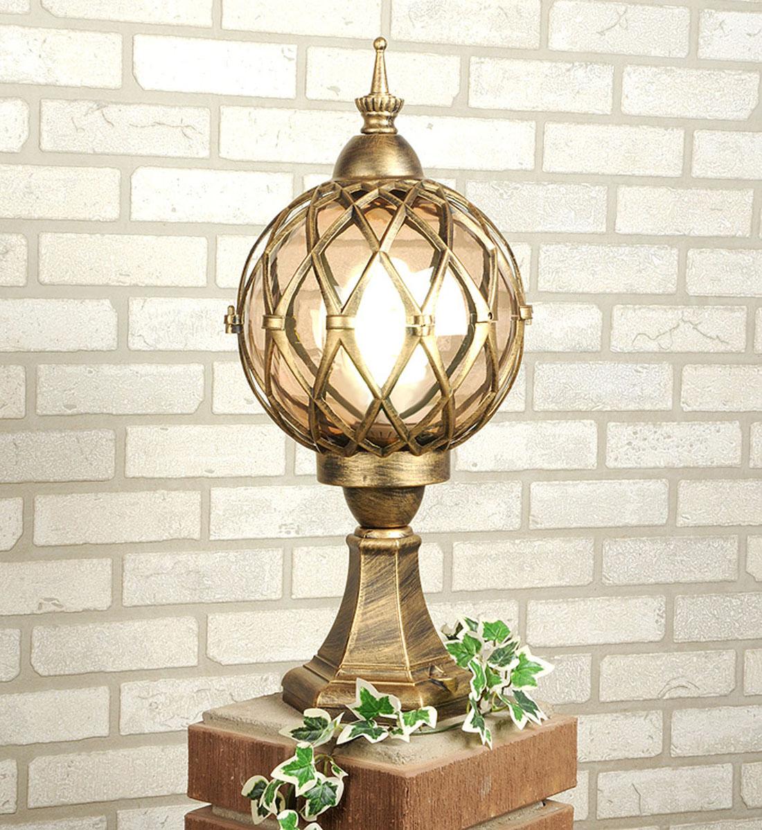 Уличный светильник Elektrostandard Sirius S черное золото садово парковый светильник sirius 4690389017407 elektrostandard 1183814