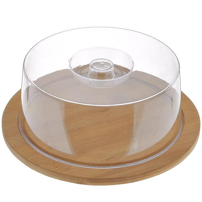 Доска разделочная Hans & Gretchen с крышкой, круглая, цвет: темно-бежевый, диаметр 23 см9031Круглая разделочная доска Hans & Gretchen изготовлена из высококачественной древесины. Высокая плотность и большая прочность материала обеспечивает износостойкость и долговечность. Изделие не деформируется при длительном использовании, не впитывает запахи. Обладает водоотталкивающими свойствами. Края доски снабжены желобками для стока жидкости, на них также устанавливается прозрачная пластиковая крышка. Благодаря такой крышке нарезанные продукты можно хранить прямо на доске, не перекладывая в отдельную емкость. При необходимости доску можно использовать для сервировки некоторых блюд, например, суши. Подходит для хранения пищи в холодильнике. Удобная многофункциональная разделочная доска займет достойное место среди аксессуаров на вашей кухне. Характеристики:Материал: дерево, пластик. Цвет: темно-бежевый. Диаметр доски: 23 см. Толщина доски: 1 см. Высота крышки: 7,5 см. Артикул: 9031.