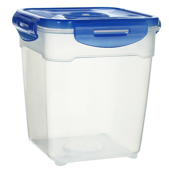Контейнер вакуумный для пищевых продуктов Atlantis, цвет: синий, 2,5 лVS2R-53Контейнер Atlantis квадратной формы предназначен для хранения пищевых продуктов. Контейнер изготовлен из пищевого пластика, в состав которого включена антибактериальная добавка Microban. Microban, встроенный в структуру пластика, препятствует размножению микроорганизмов, уничтожает до 99,6% бактерий, находящихся на поверхности изделия.Сила межмолекулярных связей внутри полимера удерживает антисептик на поверхности и он не распространяется в сохраняемый продукт.Не изменяет вкусовых свойств хранимых в контейнере продуктов, препятствует размножению болезнетворных бактерий, сохраняет антибактериальные свойства в течение всего срока использования контейнера.Продукты сохраняются свежими дольше, чем в обычных контейнерах.Позволяет предотвратить загрязнение и неприятный запах, вызываемый бактериями, грибком и плесенью. Продукты в вакуумном контейнере можно ставить в морозилку или разогреватьв микроволновой печи, не снимая при этом крышку контейнера.Состояние вакуума достигается в контейнере с помощью вакуумного насоса.Контейнер универсален, вы сможете хранить, замораживать, разогревать самыеразнообразные продукты. Характеристики:Материал: пластик. Объем контейнера: 2,5 л. Размер контейнера (с крышкой): 16 см х 16 см х 18 см. Артикул: VS2R-53.