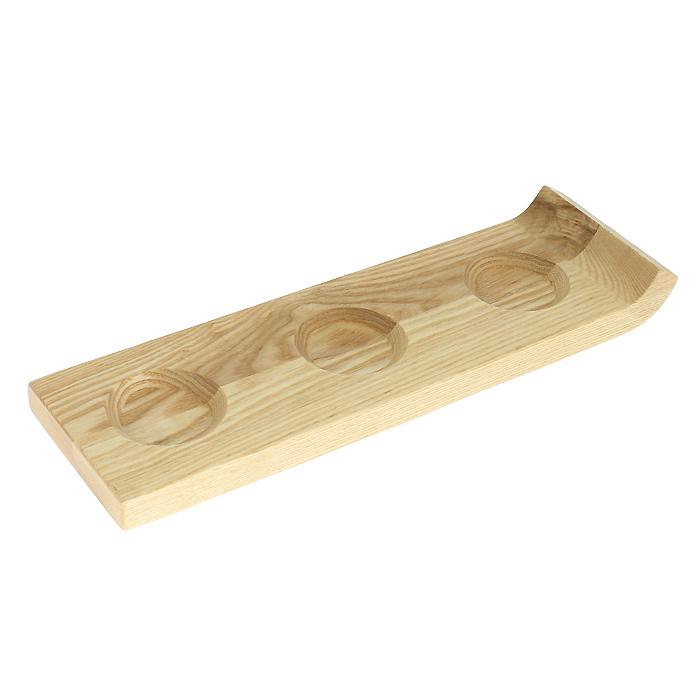 Подставка для сервировки соусов Brabantia, 32 х 10 см 611827611827Подставка для сервировки соусов Brabantia выполнена из дерева. Подставка имеет три углубления для трех видов соуса и удобный бортик-ручку для переноски. Такая подставка станет незаменимым предметом для сервировки стола. Характеристики:Материал: дерево. Размер подноса: 32 см х 1,5 см х 10 см. Артикул:611827. Гарантия производителя: 5 лет.