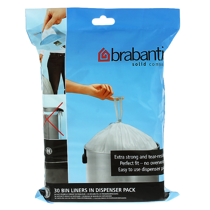 Мешки для мусора Brabantia, 50 л, 30 шт. 375705 мешки сетчатые на рулоне