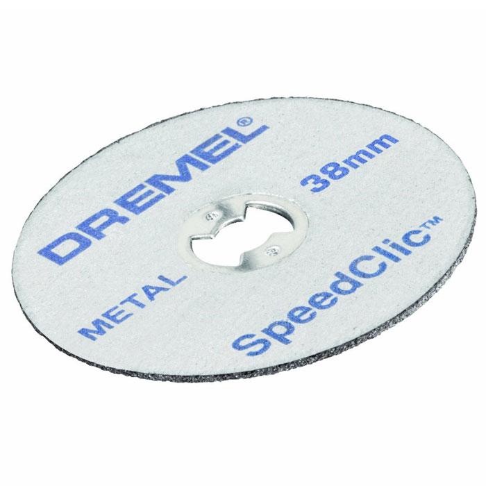 Набор насадок для резки по металлу Dremel SC456B, 12 шт2615S456JDТонкие отрезные круги Dremel SC456B предназначены для резки металла и оснащены системой EZ SpeedClic. Толщина армированных стекловолокном отрезных кругов всего лишь 1,12 мм. Они идеально подходят для точной резки любых металлов.Диаметр хвостовика: 3,2 мм.Рабочий диаметр: 38 мм.Максимальная скорость вращения: 35 000 об/мин.