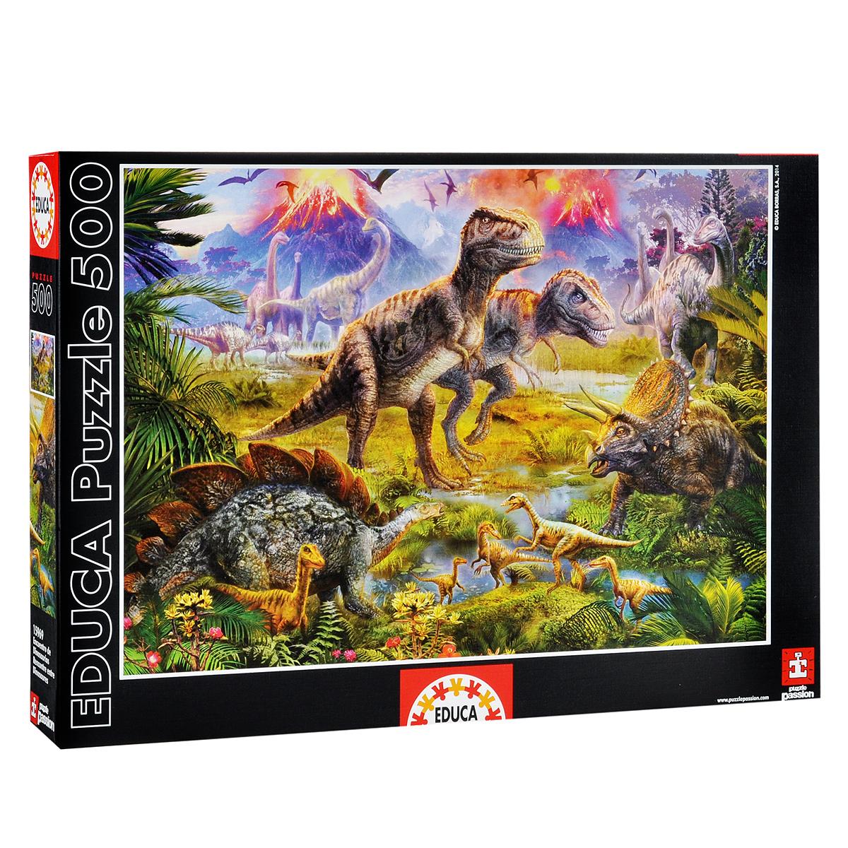 Встреча динозавров. Пазл, 500 элементов