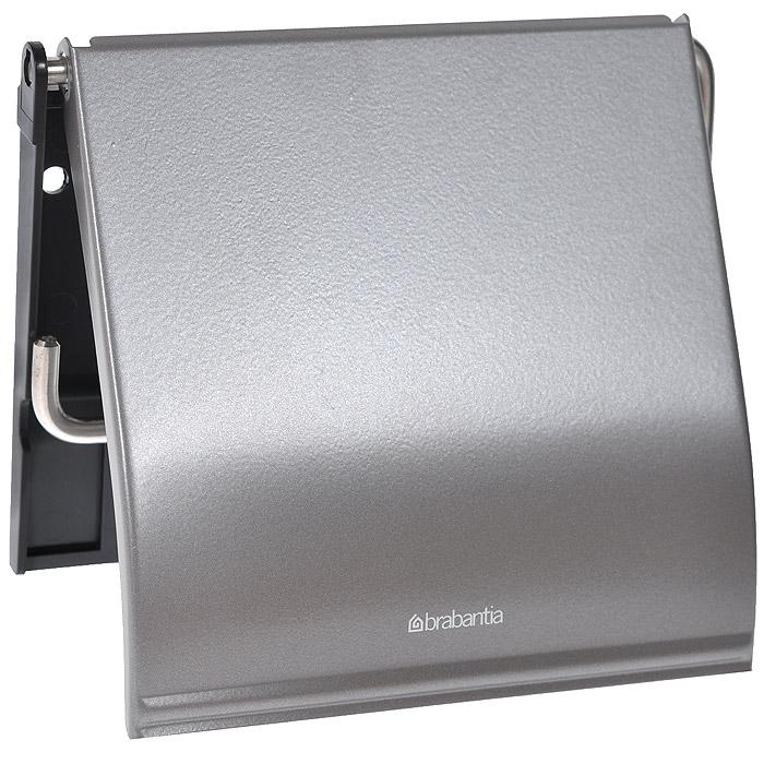 Держатель для туалетной бумаги Brabantia Classic, цвет: платиновый. 477300477300Устойчивость к коррозии – идеальное решение для ванной или туалетной комнаты.Держатель для рулона может крепиться как с правой, так и с левой стороны.Изготовлен из высококачественной нержавеющей стали с коррозионностойким покрытием или из хромированной стали.Крепежная пластина из пластика.Превосходно сочетается с туалетным ершиком, мусорными баками и другими изделиями Brabantia.