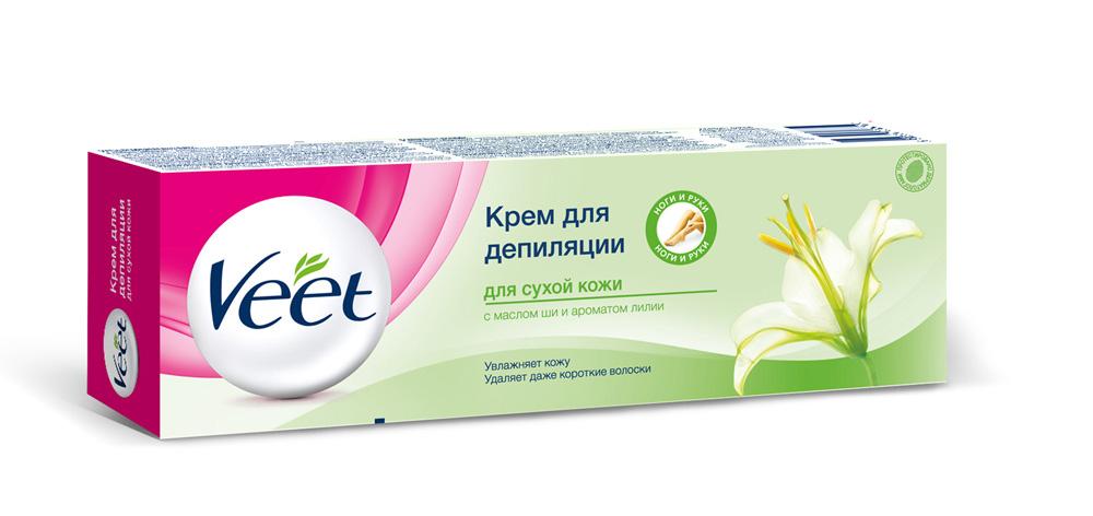 Veet Крем для депиляции, с маслом ши и ароматом лилии, для сухой кожи, 100 мл