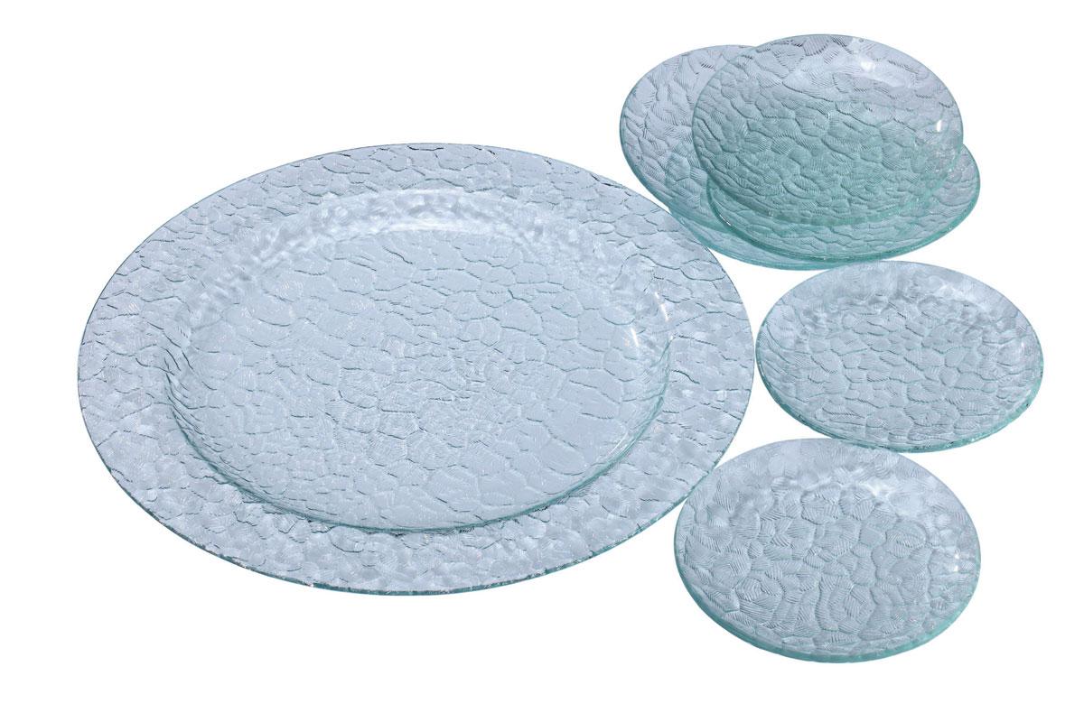 Набор для сервировки Bekker Koch, 7 предметовBK-6703Набор Bekker Koch состоит из большого круглого блюда и 6 тарелок. Посуда выполнена из прочного высококачественного жаропрочного стекла с голубоватым оттенком. Гладкое с внутренней стороны, стекло декорировано рельефным рисунком с внешней стороны, данный рисунок создает изящную игру света. Подходит для использования в посудомоечной машине. Не использовать абразивные чистящие средства.Набор для сервировки Bekker Koch идеально подойдет для пирога или торта. Характеристики:Материал: жаропрочное стекло. Цвет: голубой. Диаметр блюда: 35,5 см. Диаметр тарелки: 15 см. Размер упаковки: 36 см х 36 см х 6 см. Артикул: BK-6703.