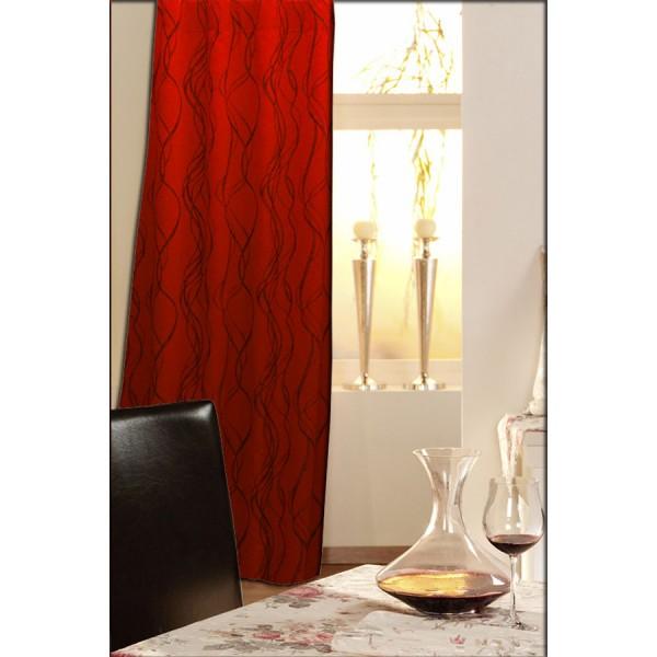Гардина Schaefer на петлях, цвет: красный, черный, 140 х 245 см 06930-596 гардина schaefer на петлях цвет белый высота 45 см 07719 957
