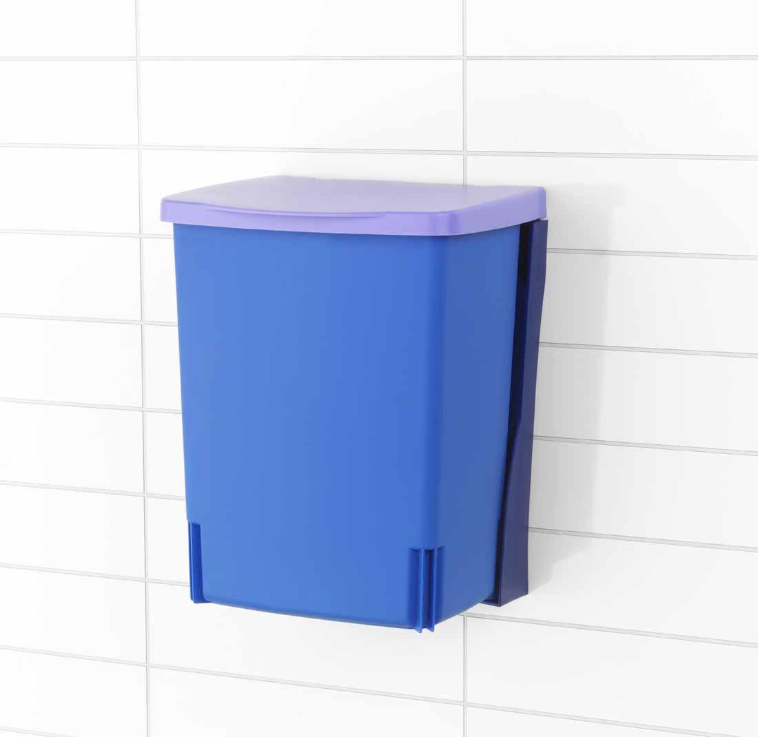Ведро для мусора Brabantia, встраиваемое, цвет: лавандовый, 10 л482243Встраиваемое ведро для мусора Brabantia, выполненное из прочного пластика, обеспечит долгий срок службы и легкую чистку. Ведро поможет вам держать мелкий мусор в порядке и предотвратит распространение неприятного запаха. Откидная пластиковая крышка открывается и закрывается бесшумно и плотно прилегает к ведру. Ведро предназначено для подвешивания на стену (крепежные элементы входят в комплект).Характеристики: Материал: пластик. Цвет: лавандовый. Объем: 10 л. Размер ведра с учетом крышки (Д х Ш х В): 25 см х 21 см х 33 см.Гарантия производителя: 5 лет.