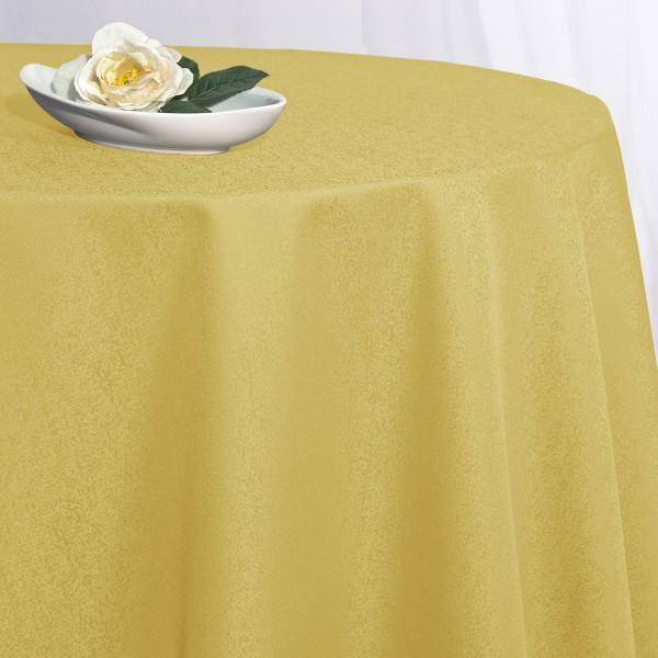 Скатерть Schaefer, круглая, цвет: желтый, диаметр 170 см. 417009026Великолепная скатерть Schaefer, выполненная из полиэстера, органично впишется в интерьер любого помещения, а оригинальный дизайн удовлетворит даже самый изысканный вкус. Скатерть изготовлена из материала желтого цвета с орнаментом и обладает жироводооталкивающими свойствами. Это текстильное изделие станет удобным и оригинальным украшением вашего дома! Характеристики: Материал: 100% полиэстер. Размер: 170 см х 170 см. Цвет: желтый.