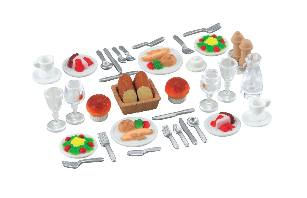 Sylvanian Families Игровой набор Ужин набор холодильник с продуктами sylvanian families