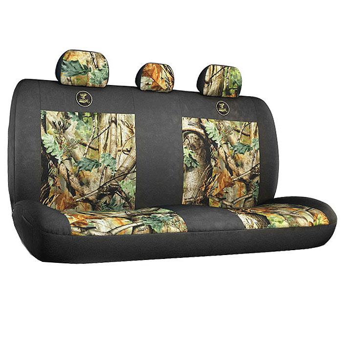 Чехол на заднее сиденье Зверобой, универсальный, с тремя подголовниками. ZV/CHE-0400 SZV/CHE-0400 SУниверсальный чехол на заднее сиденье Зверобой, выполненный из брезентовой ткани с расцветкой летний камуфляж, предназначен для задних кресел автомобиля, оснащенных съемными подголовниками. Практичный и долговечный, чехол надежно защищает сиденье от механических повреждений, износа и загрязнений. Позволяет удобно разместить под рукой необходимые в дороге вещи: спереди и по бокам чехла содержится четыре сетчатых кармана. Стяжка расположена на тыльной стороне, имеются прорези для ремней безопасности. Такой чехол станет привлекательным и практичным элементом оформления салона автомобиля. Комплектация: - 1 чехол на заднее сиденье,- 3 чехла на подголовники,- набор фиксирующих крючков.Особенности: Практичный камуфляж ЗверобойСетчатые карманы спереди и по бокам сиденья - 4Стяжка на тыльной сторонеПрорези для ремней безопасности