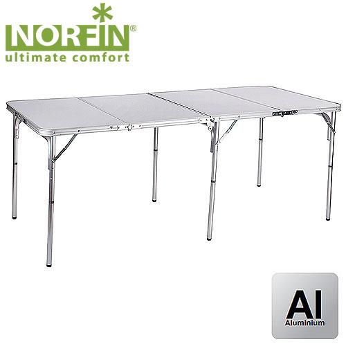 Стол складной Norfin Gaula–XLNF-20308Стол складной с алюминиевым каркасом и столешницей из МДФ.Этот стол станет незаменимым участником массовых застолий на природе. А по окончании дня, сложившись в четыре раза, превратится в компактный чемоданчик, внутри которого зафиксированы разборные ножки. Для удобства переноски имеет ручку. Размер в сложенном виде: 78 см x 46 см x 13 см. Максимальная нагрузка: 30 кг.