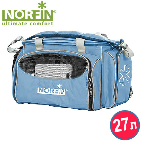 Термосумка Norfin Kuhmo NFL, с посудой, цвет: голубой термосумка norfin luiro m nfl цвет голубой 43 см х 25 см х 27 см