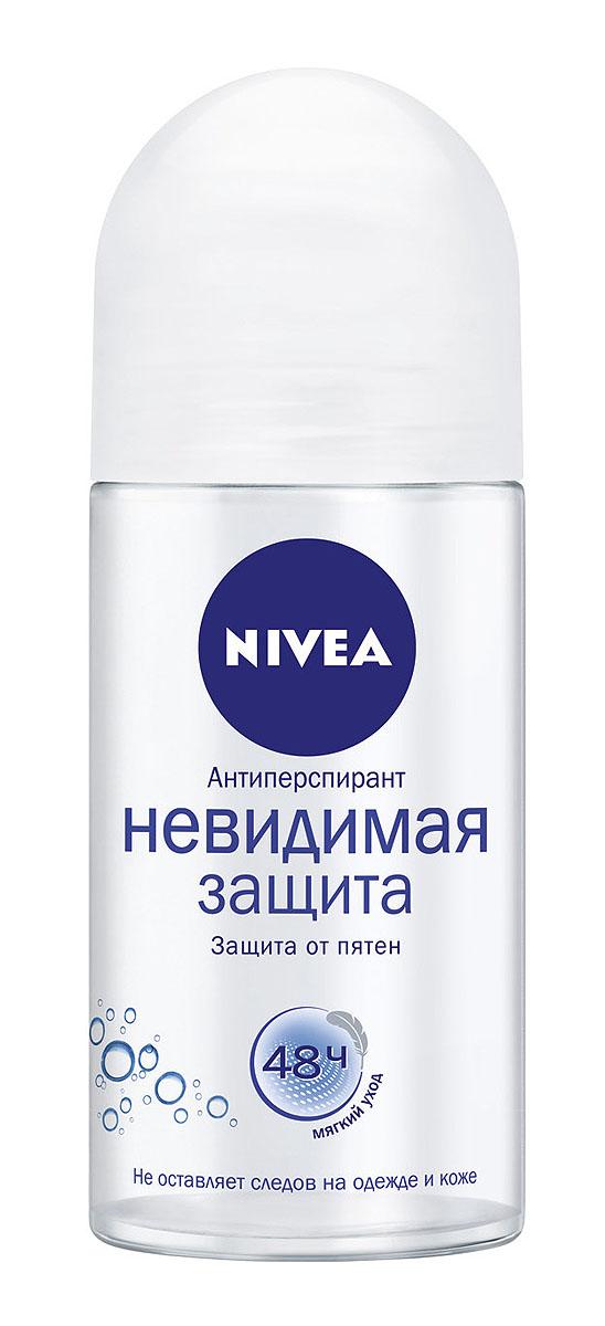NIVEA Антиперспирант шарик Невидимая защита Pure 50 мл nivea nivea антиперспирант стик защита и забота 40 мл