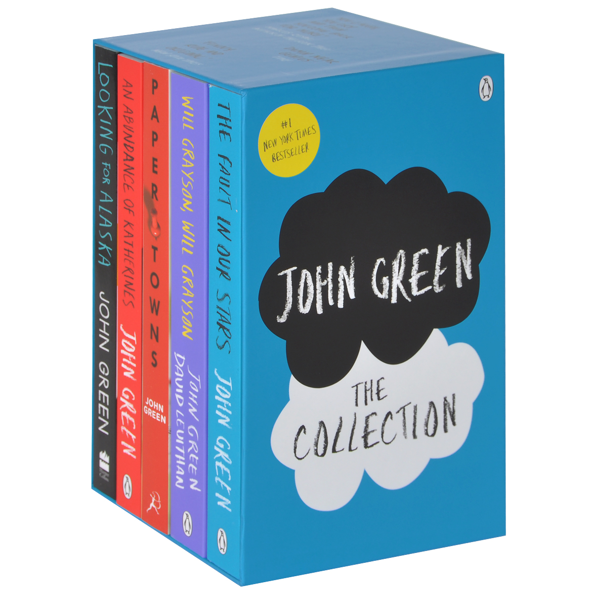 John Green – The Collection: The Fault in Our Stars, Looking for Alaska, Paper Towns, An Abundanc (комплект из 5 книг)