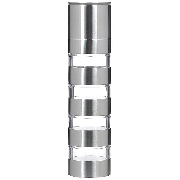 Мельница для специй Bradex Молинеро, четырехуровневаяTK 0061Механическая мельница Bradex Молинеро состоит из четырех контейнеров для хранения специй, нижней части сжерновами для измельчения и защитной крышки. Корпус выполнен из стали и акрила, механизм помола -высококачественная керамика. Мельница подходит для измельчения кориандра, перца, тимьяна, каменной соли. Чтобы измельчить специи, достаточно переставить контейнер с необходимыми для перемалывания специями всамый низ и соединить его с нижней частью, имеющей жернова.Мельница Bradex Молинеро сочетает в своем дизайне функциональность и простоту современных форм. Высможете не только перемалывать, но и хранить специи в этом приспособлении, а его современный внешний видукрасит любую кухню.Не рекомендуется мыть в посудомоечной машине при температуре свыше 50°С.