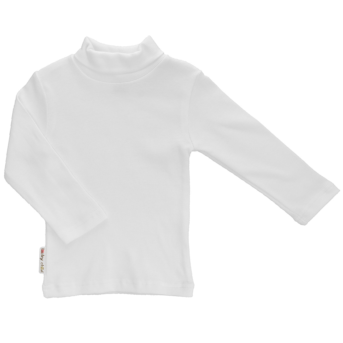 Водолазка детская Lucky Child, цвет: белый. 7-11. Размер 122/128