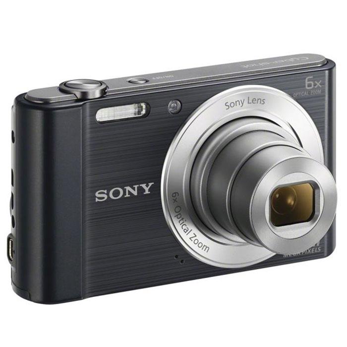 Sony Cyber-shot DSC-W810, Black цифровой фотоаппарат