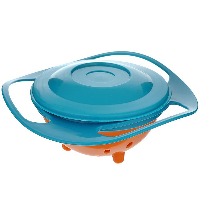 Чашка Bradex Неваляшка с крышкой, цвет: оранжевый, бирюзовый. TD 010314902Чашка Bradex Неваляшка изготовлена из пищевого пластика, не содержащего опасные химические вещества и вредные токсины. Устройство чашки представляет собой особый механизм с оборотом вращения в 360 градусов, препятствующий проливанию ребенком содержимого, как бы он ни крутил и не поворачивал ее. Это предупреждает беспорядок, потерю продуктов и пачканье одежды ребенка. Изделие практически не поддается разрушению, поэтому ваш не ребенок не сломает ее, даже уронив. Благодаря плотно закрывающейся крышке изделие можно брать с собой куда угодно - на прогулку, в школу, в поездку. Изделие можно использовать в качестве контейнера для еды, для хранения сыпучих продуктов (орехи, сухофрукты, конфеты), а также мелких предметов (скрепок, булавок, пуговиц, канцелярских кнопок). Вертикальноустойчива.Можно мыть в посудомоечной машине. Характеристики:Материал: пластик. Цвет: оранжевый, бирюзовый. Диаметр поворачивающейся чаши: 9 см. Высота поворачивающейся чаши: 5,5 см. Общий диаметр чаши: 17 см. Размер упаковки: 18 см х 17,5 см х 8 см. Артикул: TD 0103.