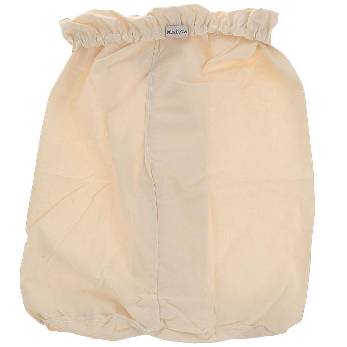 Мешок для бака для белья Brabantia, цвет: серый, 40 л. 382680382680Сменный мешок подойдет для двухсекционного бака для белья Brabantia объемом 40 л. Этот мешок для белья цвета экрю изготовлен из прочной ткани (100% хлопок) и легко стирается. Благодаря эластичным прорезиненным краям мешок легко устанавливается и не соскальзывает в бак.