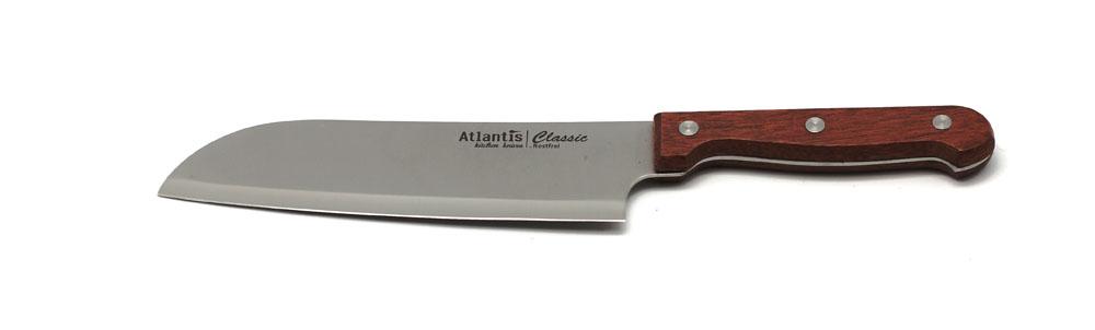 Нож Atlantis Classic 24704-SK24704-SKНож Atlantis Classic изготовлен из нержавеющей стали. Нож с удобной эргономичной деревянной ручкой, с особой формой режущей кромки и специальной заточкой лезвия будет отличным помощником на Вашей кухне. Характеристики: Материал: нержавеющая сталь, дерево. Длина лезвия: 17,5 см. Длина ножа: 30 см. Страна: Германия. Артикул: 24704-SK.