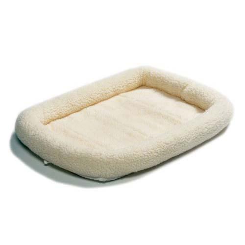 Лежанка для животных Midwest Quiet Time, цвет: белый, 76 см х 53 см