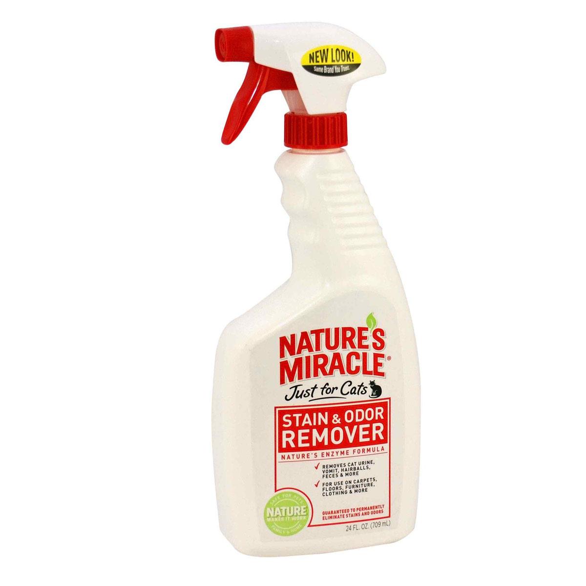 Уничтожитель запахов и пятен от кошек 8 in 1  Nature's Miracle , универсальный, 709 мл