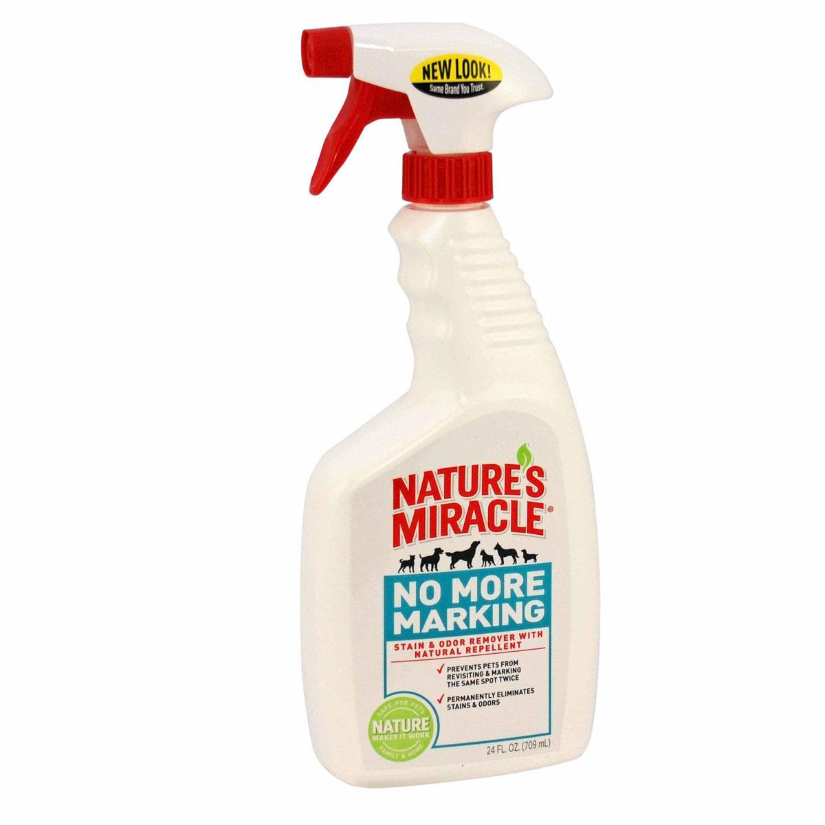 Спрей 8 in 1  Nature's Miracle , для уничтожения запахов и пятен, против повторных меток, 709 мл