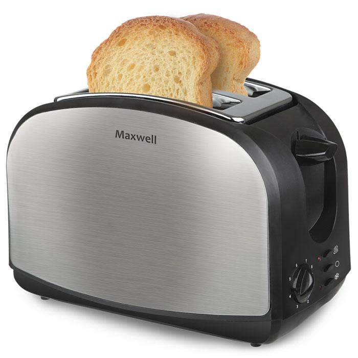 Maxwell MW-1502(ST) тостерMW-1502(ST)Тонкий, теплый, хрустящий кусочек хлеба - отличный завтрак на каждый день благодаря тостеру Maxwell MW-1502(ST). Тосты питательны, необычайно вкусны, чтобы приготовить их, достаточно потратить всего 2-3 минуты. Разве это не идеальный завтрак?Прибор имеет эргономичный дизайн и компактные размеры. Среди особенностей следует отметить возможность регулировки поджаривания тостов в восьми режимах и прочный корпус тостера из нержавеющей стали. Обратите внимание: для того чтобы извлечь тосты, не нужно прикладывать усилия или подвергать себя риску ожогов. Все делается очень просто, удобно и быстро.Поджаривание 2-х ломтиков хлебаПоддон для крошекКнопка отменыТермоизолированный корпусЭкстра-подъём для маленьких ломтиков хлеба
