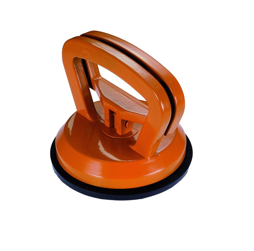 Стеклодомкрат Kapriol25670Присоска вакуумная для переноски материалов Kapriol позволяет быстро и, главное, безопасно транспортировать различные материалы.Особенности приспособления: Присоска для снятия и переноски различных материалов: стекол, зеркал, плит и др.; Рабочая область полностью изготовлена из алюминия - прочность и одновременно легкий вес; Замок с автоматической блокировкой - удобство использования; Защитное порошковое покрытие рукоятки.Характеристики: Материал: металл, резина. Диаметр присоски: 11,5 см. Размер приспособления: 11,5 см х 11,5 см х 9 см.