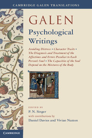 Galen: Psychological Writings under one cover eleven stories