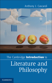 The Cambridge Introduction to Literature and Philosophy an introduction to the philosophy of art