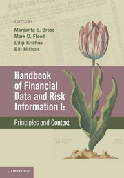 Handbook of Financial Data and Risk Information I
