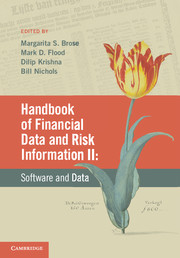 Handbook of Financial Data and Risk Information II christian szylar handbook of market risk