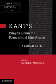 Kant's Religion within the Boundaries of Mere Reason oxford studies in philosophy of religion volume 8