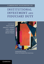 Cambridge Handbook of Institutional Investment and Fiduciary Duty цена и фото