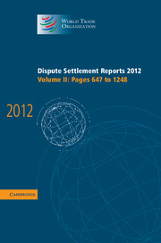Dispute Settlement Reports 2012 under one cover eleven stories