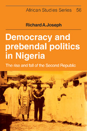 Democracy and Prebendal Politics in Nigeria affair of state an